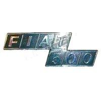 リアバッジ(プラスチック)(Fiat 500)