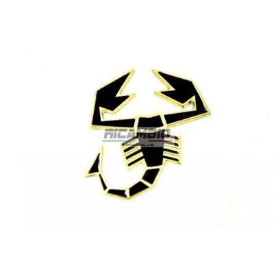 画像1: Black Abarth スコーピオンメタルバッジ