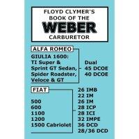 WEBERキャブレターマニュアル(Fiat 500)